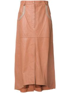 юбка миди А-образного силуэта Nina Ricci