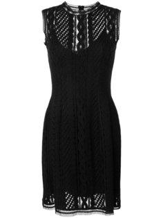 приталенное платье с вышивкой Ermanno Scervino