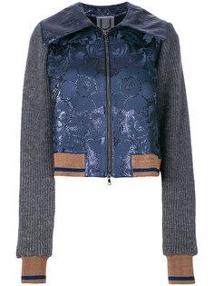 куртка-бомбер с цветочной отделкой  Aviù