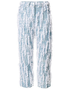 укороченные джинсы с отделкой Faustine Steinmetz