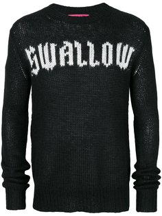 свитер с принтом swallow McQ Alexander McQueen
