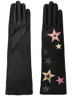 длинные перчатки со звездами Agnelle