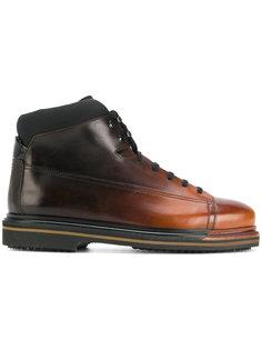 двухцветные ботинки Santoni