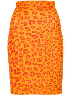 leopard print skirt Amir Slama