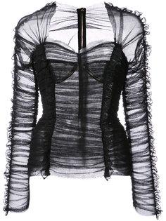 блузка со сборками Dolce & Gabbana