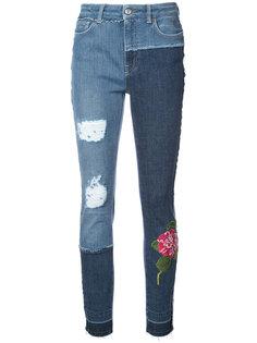 джинсы кроя скинни с цветочной вышивкой Dolce & Gabbana
