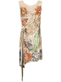 декорированное платье с запахом Tsumori Chisato