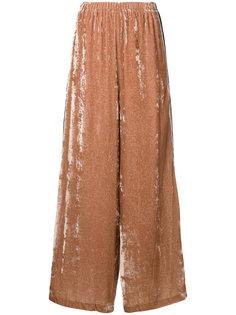 бархатные брюки-палаццо  Aula