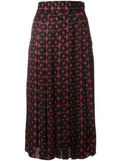 двухцветная юбка Fendi