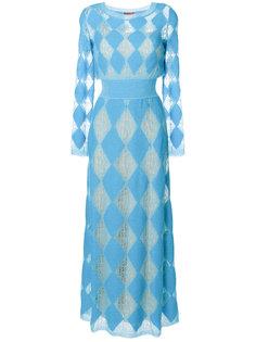 трикотажное платье с ромбовидным узором Missoni