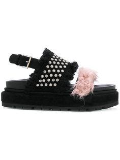 сандалии на платформе с заклепками Alexander McQueen