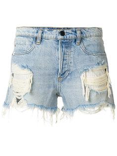 джинсовые шорты с прорванными деталями Alexander Wang