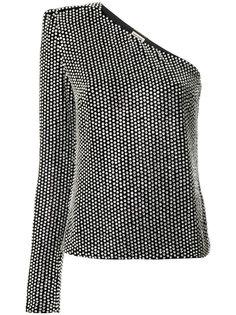 топ на одно плечо декорированное кристаллами  Saint Laurent