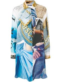 платье-рубашка с принтом  Moschino
