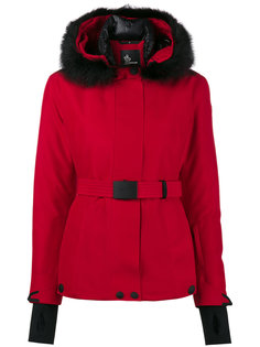 лыжная куртка с капюшоном и мехом сурка Moncler Grenoble