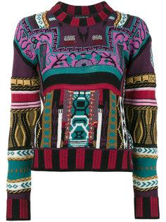 свитер с миксом принтом Etro