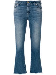 укороченные джинсы клеш  7 For All Mankind