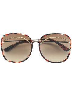 крупные солнцезащитные очки Bottega Veneta Eyewear