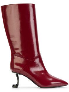 сапоги на стилизованном каблуке Marni