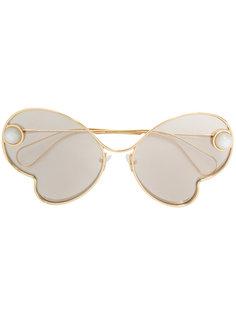 декорированные солнцезащитные очки Christopher Kane Eyewear