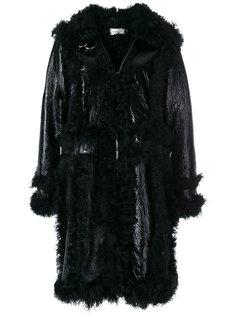 пальто в стиле оверсайз с меховой отделкой Marquesalmeida