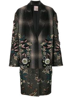 декорированное однобортное пальто Antonio Marras