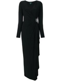 платье с драпировкой и V-образным вырезом  Ralph Lauren