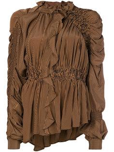 блузка с оборками и сборками Preen By Thornton Bregazzi