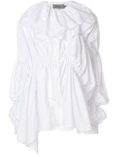 асимметричная рубашка с пышными рюшами Preen By Thornton Bregazzi