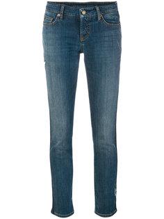 укороченные джинсы с цветочной вышивкой Cambio