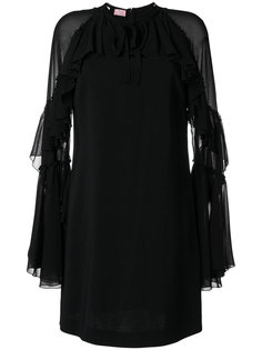 платье шифт с многослойными рукавами Giamba