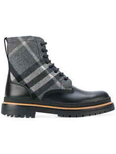 ботинки на шнуровке в клетку Burberry