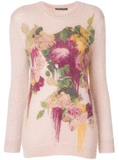 джемпер с цветочным принтом Alberta Ferretti