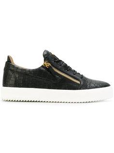 кроссовки Frankie с тиснением под крокодиловую кожу Giuseppe Zanotti Design