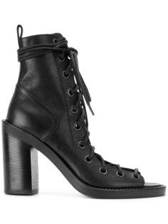 ботинки на шнуровке с открытым носком Ann Demeulemeester