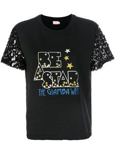 футболка с пайетками Giamba
