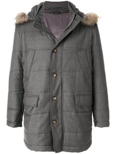 стеганое пальто с капюшоном Eleventy