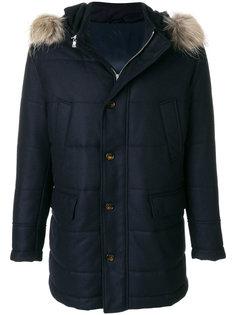 стеганая куртка с меховой оторочкой Eleventy