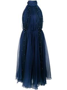 декорированное платье из тюля Maria Lucia Hohan