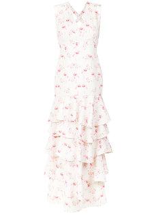 flamingo print gown Olympiah