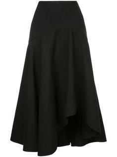асимметричная расклешенная юбка Alexander McQueen
