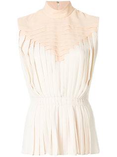 плиссированная блузка без рукавов Marco De Vincenzo