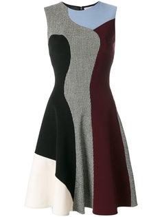 """приталенное платье дизайна """"колор-блок"""" Victoria Beckham"""
