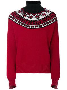 свитер-водолазка в рубчик  Fendi