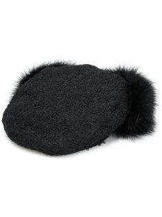 шляпа с меховой деталью Borsalino