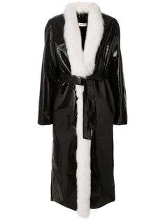 пальто с меховой накидкой Attico