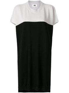 двухцветное платье-свитер Mm6 Maison Margiela