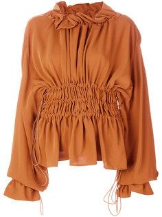 блузка со сборками на талии Mm6 Maison Margiela