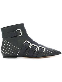 ботинки с заостренным носком и заклепками Red Valentino