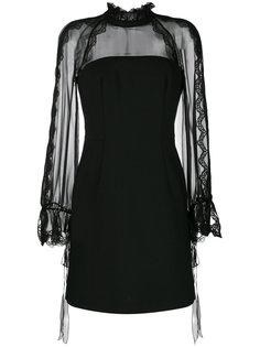 платье мини с прозрачными рукавами Alberta Ferretti